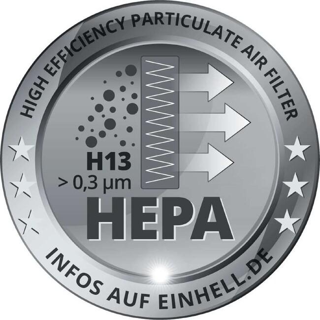 Фильтр HEPA + корзина к строительным пылесосам, 2 шт, Einhell