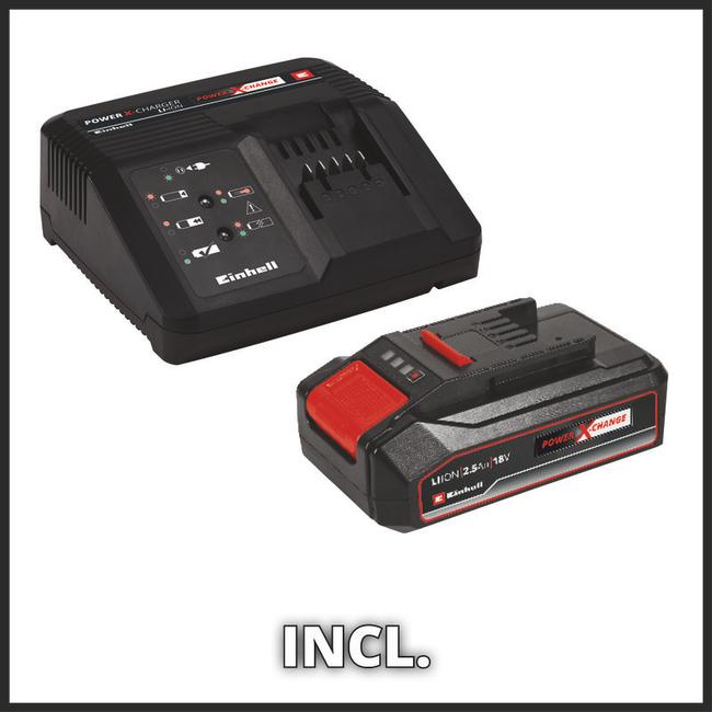 Кусторез аккумуляторный Einhell GE-CH 1855/1 Li Kit (1x2,5 Ah)
