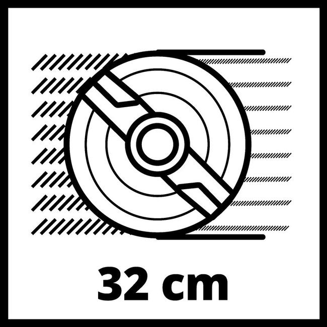 Газонокосилка аккумуляторная Einhell GE-CM 18/32 Li-Solo