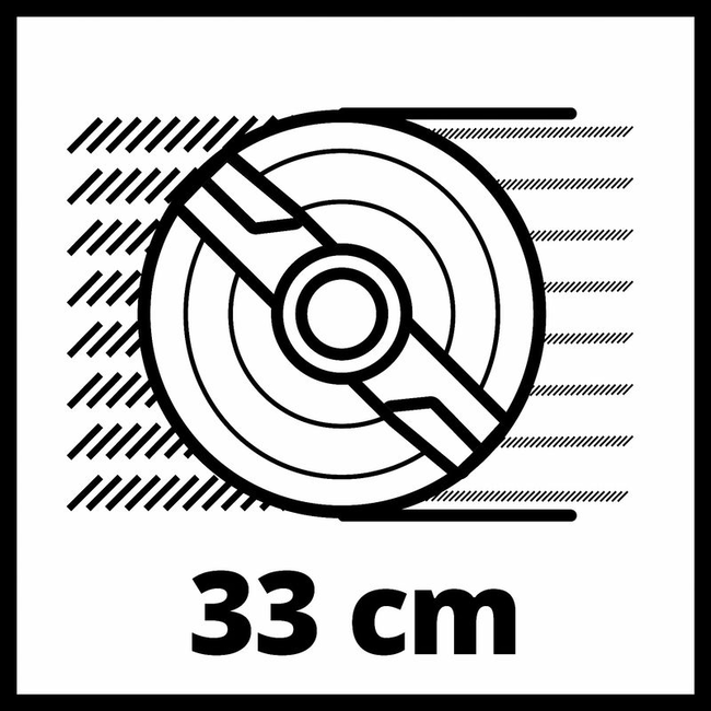Газонокосилка аккумуляторная Einhell GE-CM 18/33 Li-Solo