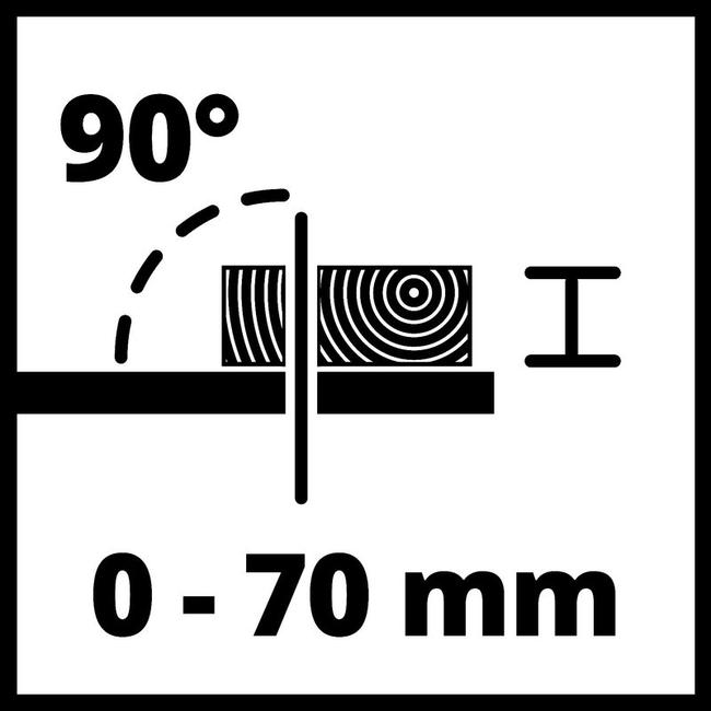 Аккумуляторный пильный станок по дереву Einhell TE-TS 36/210 Li-Solo