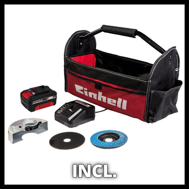 Болгарка аккумуляторная Einhell TE-AG 18/115 Li Kit (1x4,0 Ah)