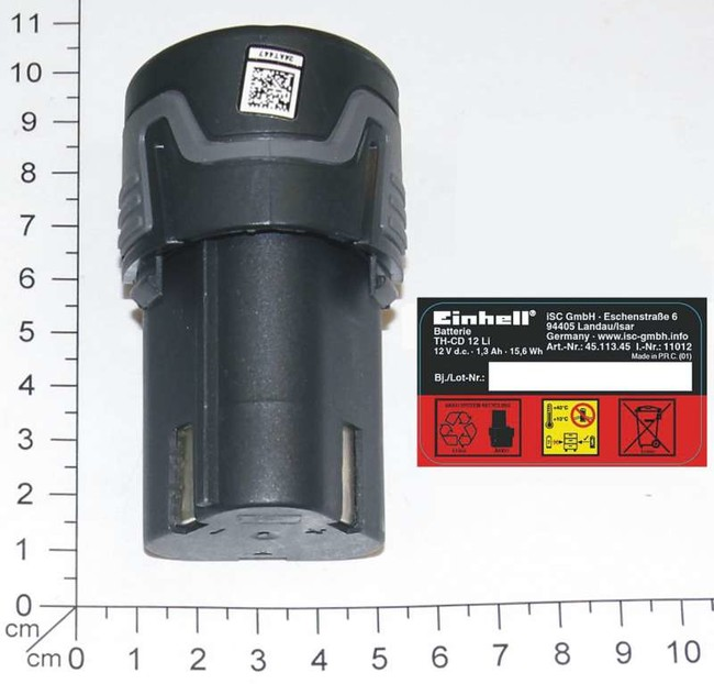 Аккумулятор Einhell 12V, 1.3 Ач, Li-Ion