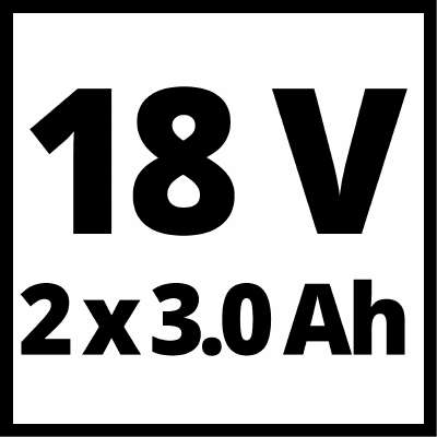 Зарядное устройство + аккумулятор 2x3.0 Ah, Einhel 18V, Li-Ion
