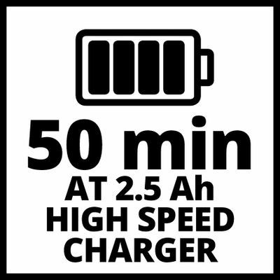 Зарядное устройство + аккумулятор 1x2.5 Ah, Einhel 18V, Li-Ion