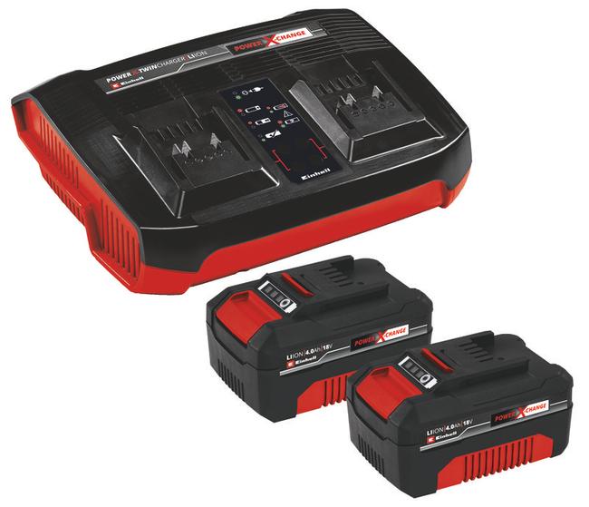Зарядное устройство + аккумулятор 2x4.0 Ah, Einhel 18V, Li-Ion