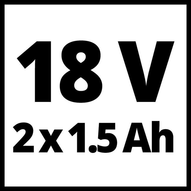 Шуруповерт Einhell TE-CD 18/2 Li-i Kit (2x1,5 Ah)