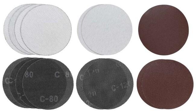 Комплект шлифлистов, d=180 мм, круг, P80, P120, 15 шт, Einhell