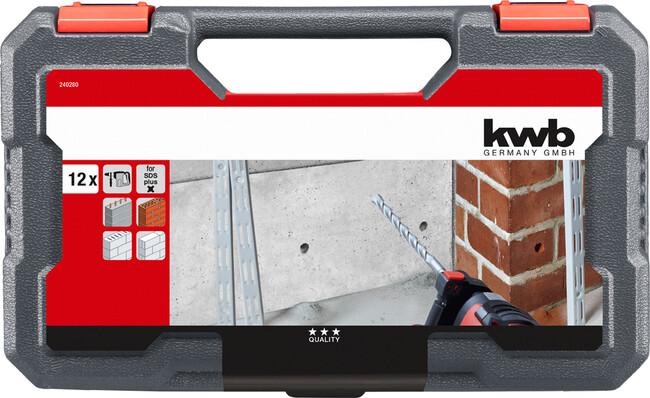 Комплект буров по бетону, SDS-Plus, 12 шт, KWB
