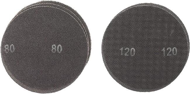 Комплект шлифлистов 225 мм, круг, P80, P120, 5 шт, KWB