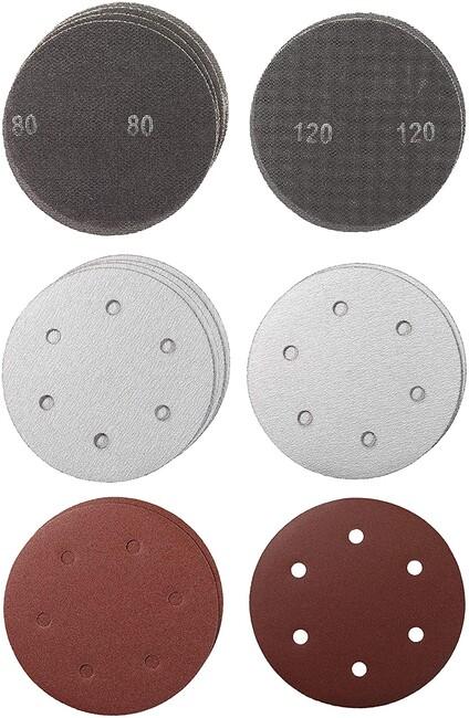 Комплект шлифлистов 225 мм, круг, P80, P120, 15 шт, KWB