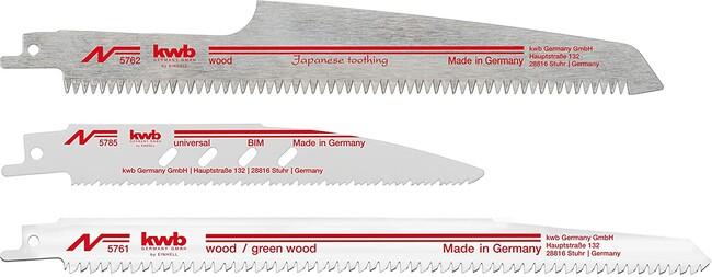 Набор пилок по дереву и металлу для сабельной пилы, 3 шт, KWB