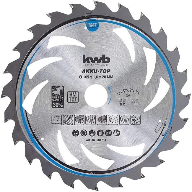 Пильный диск 150x20x1,6 мм, 20 зубов, для дерева, KWB