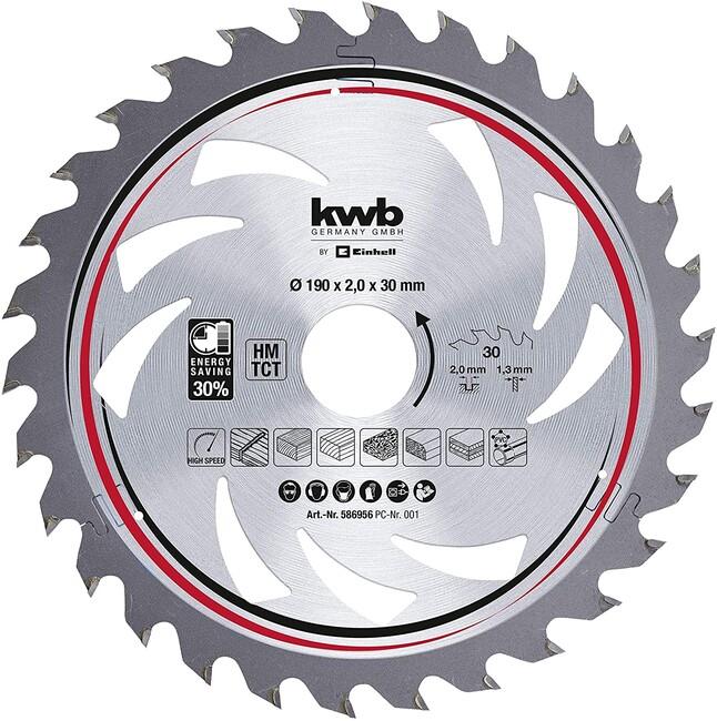 Пильный диск 190x30x2,0 мм, 30 зубов, для дерева, KWB