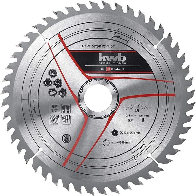 Пильный диск 210x30x2,4 мм, 48 зубов, для дерева, KWB