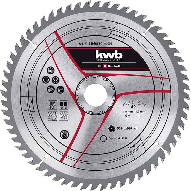 Пильный диск 254x30x1,8 мм, 30 зубов, для дерева, KWB