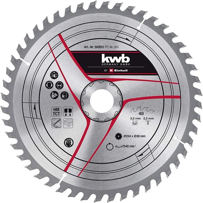 Пильный диск 254x30x3,2 мм, 48 зубов, по дереву, KWB